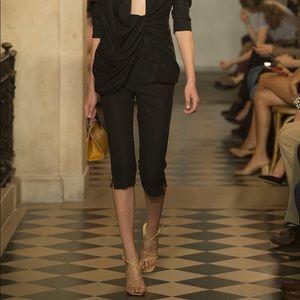 Jacquemus Black Cropped Capri Pant Legging Trouser